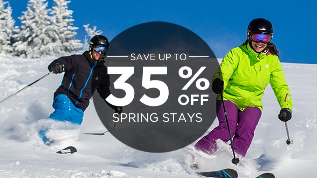 Save up to 35% Off Winter Lodging!